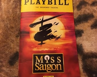 Miss Saigon playbill: closing cast