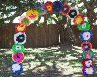Mexican Tissue Paper Wedding Arch