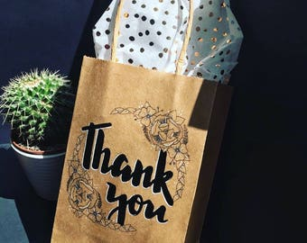 Floral Thankyou Gift Bags