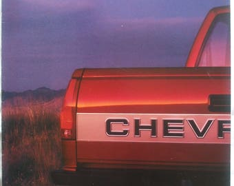 1991 Chevy Trucks Fold Out C15 454 SS Poster Sales Brochure