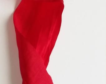 Taffeta Ribbon -  Ribbon - 6cm - Red  - crash - Fabric Ribbon - Christmas Ribbon - Ribbon Trim - Taffeta Ribbon Trim - Decoration Trim