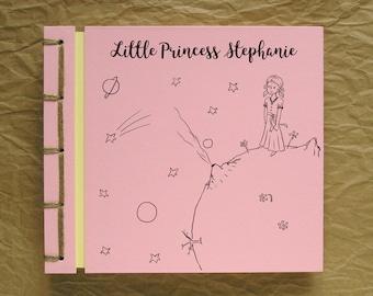 Personalized Kid's Photo Album Handmade Scrapbook, Birthday Girl, Little Princess Drawing