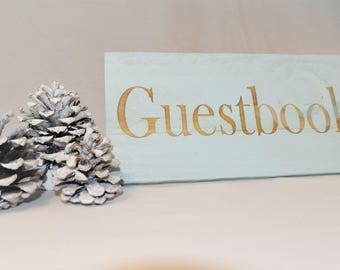 Engraved Guestbook Sign | Wedding | Table | Guestbook | Wedding | Love | Decor | Pallet Wood | Laser | Engraved |