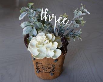 Wooden Table Numbers | Wedding | Party Decor | Centerpieces | Birch | Rustic | Natural Wood | Sweet Sixteen | Prom | Bridal Shower