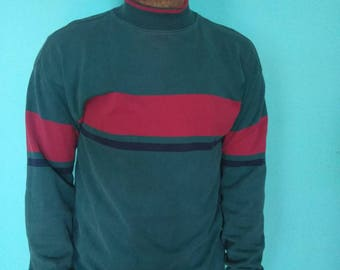 Vtg L.L. Bean Freeport Maine Mock Neck T-shirt mens size Medium 1980s 1990s