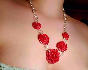 Stunning NICKLE FREE rose necklaces