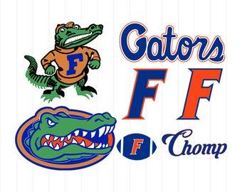 INSTANT DOWNLOAD - Florida Gators Logo, Florida Gators Svg, Florida Gators Monogram, Florida Svg, Florida Gators Clipart, Football Svg