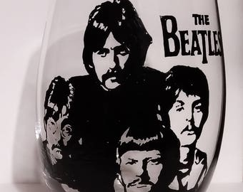 Beatles Silhouettes Etsy