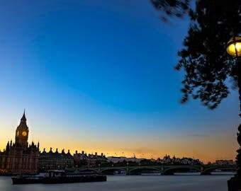 London, Fine Art Photography, U.K, Big Ben, Dusk, Thames River, Travel