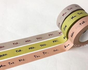 SAMPLE Washi Tape Classiky Day of the week