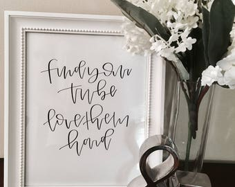 Find Your Tribe - 8x10 print for frame