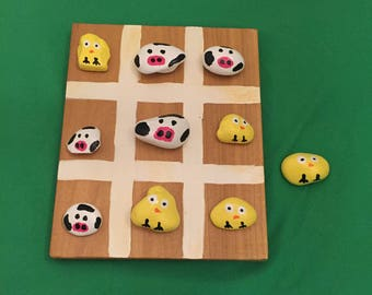 Cow and Chick Tic Tac Toe