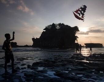 Sunset Photo Bali, Large Wall Decor, Travel Photography, Modern Art, Photos on Wood, Sunset Photography