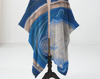 Lightweight Wrap Beach Womens Fashion Gifts For Her Fall Fashion Summer Fashion Blue Agate