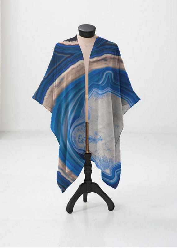 Lightweight Wrap Beach Womens Fashion Gifts For Her Fall Fashion Summer Fashion Blue Agate