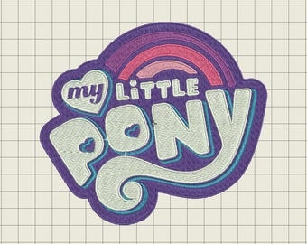 My Little Pony Logo Embroidery File 4x4 5x7