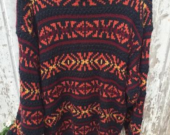 Vintage Patterned Sweater