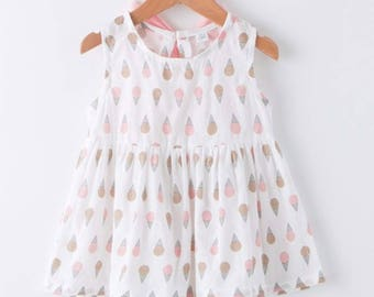 Pink Ice Cream Dress/Little Girls Clothes/Dresses for Birthday Party Wedding Vacation/Unique Vintage Antique Style Dresses for Girls