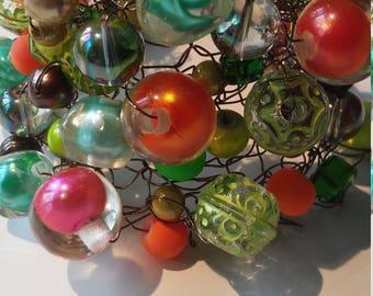 Multiple colours beaded bracelet