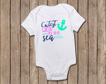 Cutest Sailor in the Sea/baby shower gift/baby girl/baby onesie/sailor/baby girl gift/onesie