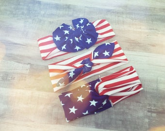 American flag headbands