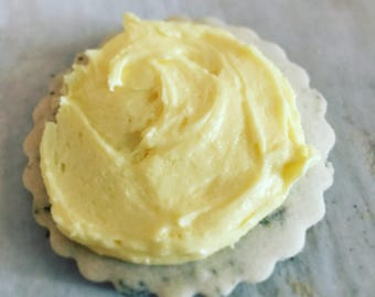 Lemon and Thyme Shortbread Cookies with Lemon Frosting