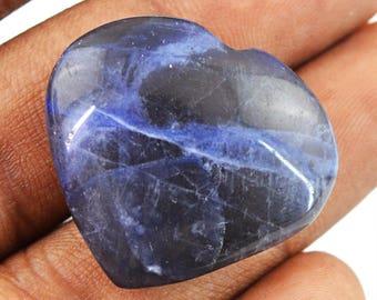 Heart Shape Blue Sodolite cabochon gem