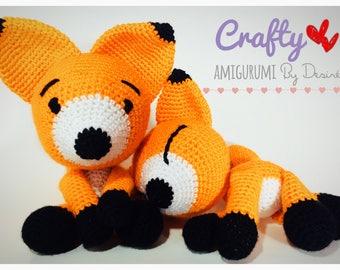 Fox Plush - Stuffed Fox - Amigurumi Fox - Crochet Fox - Fox Stuffed Animal - Fox Toy - Fox Decor - Fox Gift - Nursery Decor - Kito the Fox