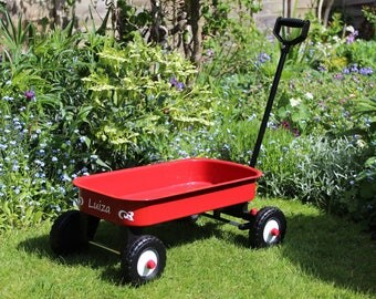 Personalised children's pull along cart