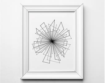 Abstract Line Art, Abstract Art Print, Black and White Art, Black and White Illustration, Minimalist Wall Art, Minimalist Art Print