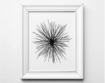 Black and White Abstract Art Print, Black and White Line Art, Black and White Illustration, Minimalist Wall Art, Minimalist Art Print