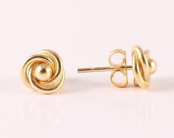 Plain 92.5 sterling silver earring