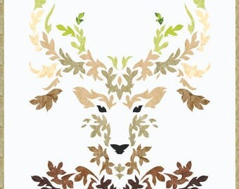 The Stag - Applique Wall Hanging Quilt Pattern