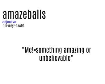Sarcasm Funny Zinger Urban Dictionary Amazeballs...Amazing Wall Art Print Printable Email Digital Delivery