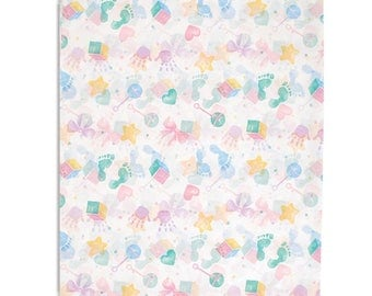 Baby   , Tissue Paper, Large sheets, 20 x 30 inches. BABY PRINTS Tissue Paper