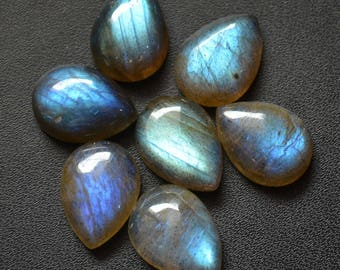 6x8  mm Natural labradorite cabochon pear loose gemstone AAA Quality