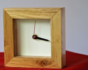 Box tide clock made from solid Ash