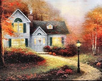 "Thomas Kinkade ""Blessings of Autumn"" Lithograph"