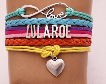 LULAROE Rainbow Heart BRACELET Love Infinity Silver Charm Distributor Legging Leggings Downline Hostess Gift Party