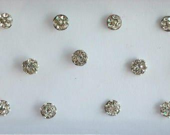 26 small Tiny Round Silver Bindis Stickers,Wedding Round Bindis,Stone Bindis,Silver Bindis,Bindis,Bollywood Bindis,Self Adhesive Stickers