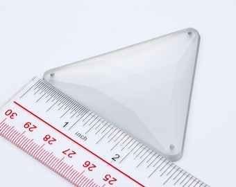 68mm Triangle Clear matte finish Acrylic stone// Sew-on