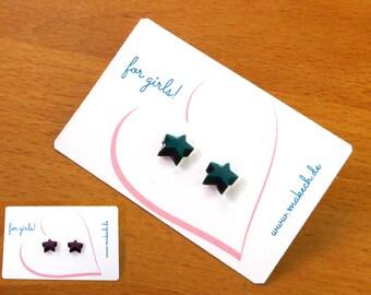 Girl children jewelry ear studs earrings 925 Silver Star