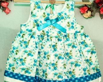 Dress baby blue flowers