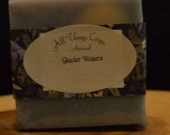 Glacier Waters Soap- Artisanal Soap, Soap for Dry Skin, Handmade Soap, Best Belling Soap, Cold Process Soap, Soap for Men, Mens Soap