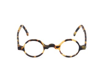 What a spectacle! Handmade round keyhole bridge 1920s 30s style spectacles 'GROUCHO' Classic Tortoise Rx ready or readers