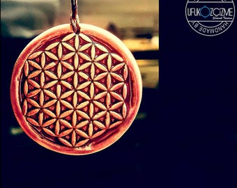 Hand Made Ceramic Necklace - Flower of Life