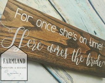 Wedding sign, bride, wedding aisle, Ring Bearer,  Wedding gift