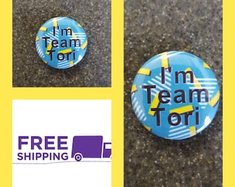 "1"" Saved by the Bell Team Tori Button Pin or Magnet, FREE SHIPPING & Coupon Codes"