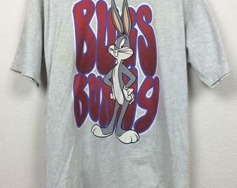 Vintage 90s Warner Bros Bugs Bunny T Shirt Size L