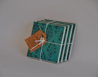 Saree Motif ceramic tile coasters
